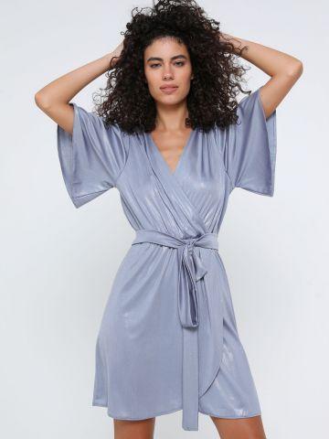 שמלת מיני מעטפת דמוי עור נחש של YANGA