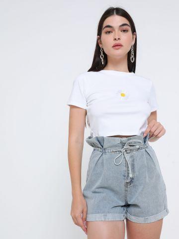 ג'ינס פייפרבאג קצר של TERMINAL X