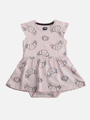 שמלת בגד גוף בהדפס קוראסונים / 3M-24M של MINENE
