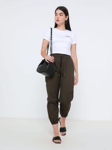 מכנסיים ארוכים עם גומי