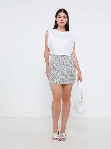 חצאית מיני בהדפס פרחים של TERMINAL X