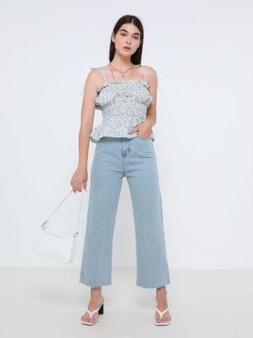 ג'ינס קרופ בגזרה מתרחבת