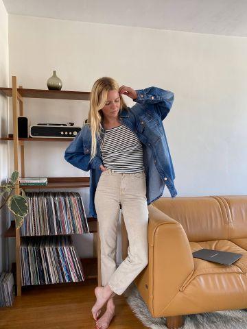 ג'ינס אסיד ווש בגזרה ישרה BDG