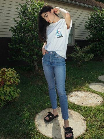 ג'ינס סקיני עם הבהרות BDG