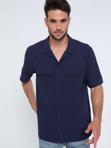 חולצה מכופתרת בטקסטורה UO של URBAN OUTFITTERS