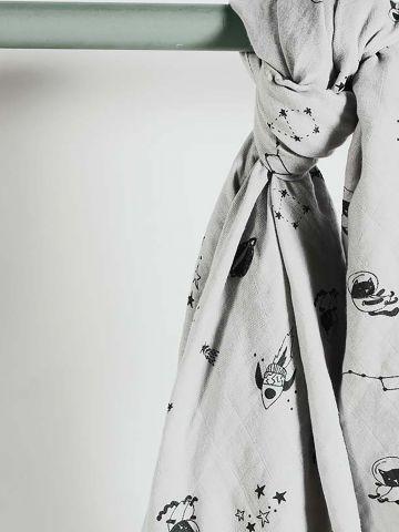 שמיכה מלבנית בהדפס איורים / בייבי