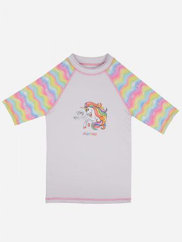 חולצת גלישה עם הדפס יוניקורן / בנות של SLIPSTOP