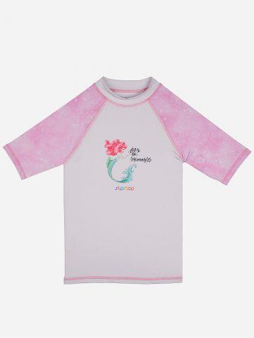 חולצת גלישה עם הדפס בת הים / בנות של SLIPSTOP