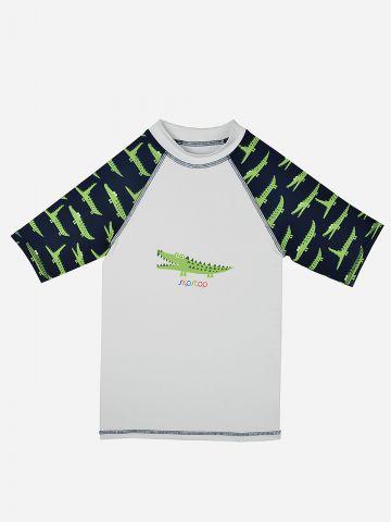 חולצת גלישה עם הדפס תנינים / בנים