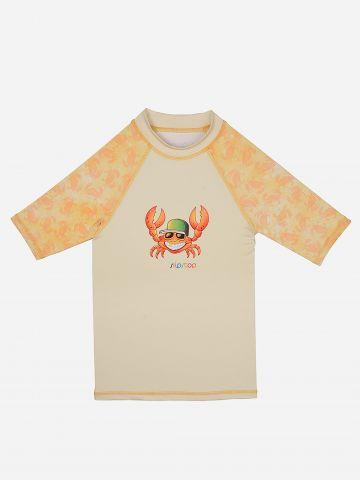 חולצת גלישה עם הדפס סרטנים / בנים