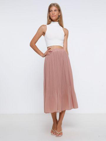 חצאית מידי פליסה של TERMINAL X