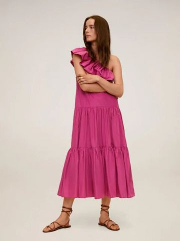 שמלת מקסי וואן שולדר של MANGO