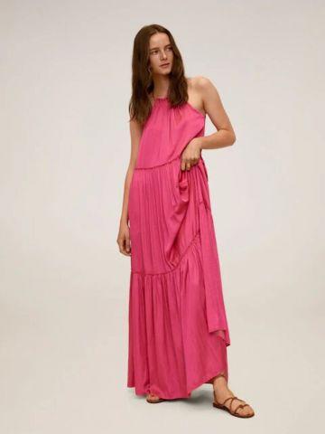 שמלת מקסי קולר של MANGO