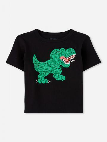 טי שירט עם הדפס דינוזאורים / 9M-4Y