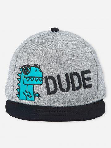כובע מצחייה עם הדפס Dude