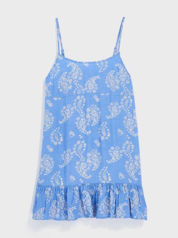 שמלת מיני פרחים פפלום UO