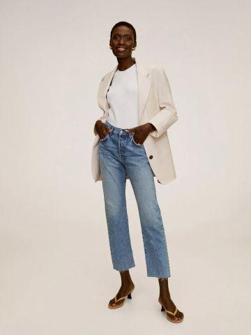 ג'ינס קרופ בגזרה ישרה של MANGO