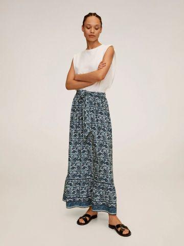 חצאית מקסי בהדפס פייזלי של MANGO