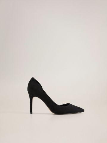 נעלי עקב סטילטו דמוי זמש של MANGO