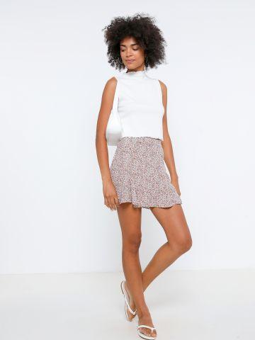 מכנסי חצאית בהדפס פרחים של YANGA