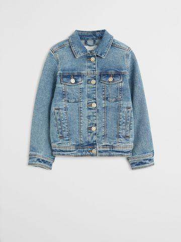 ג'קט ג'ינס עם כיסים / בנות של MANGO
