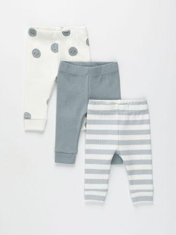 מארז 3 זוגות מכנסיים בדוגמת ריב / N.B-2Y של TERMINAL X KIDS