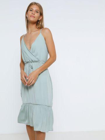 שמלת מידי מעטפת עם שרוך במותן של YANGA