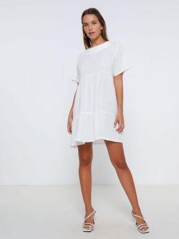 שמלת מיני דמוי פשתן בסגנון קומות של TERMINAL X