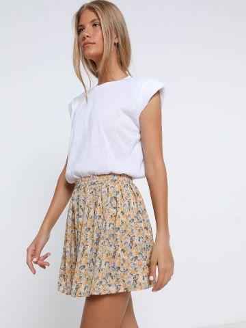 חצאית מיני בהדפס פרחים של YANGA