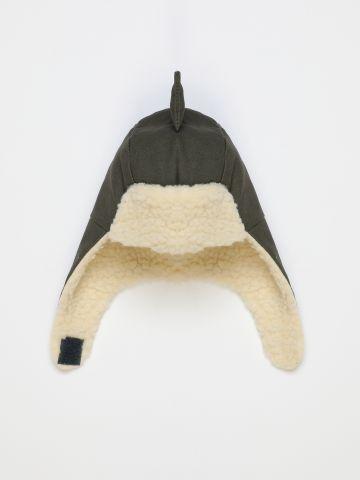 כובע גרב דמוי צמר עם כיסוי אוזניים בדוגמת דרקון / 0M-3Y של FOX