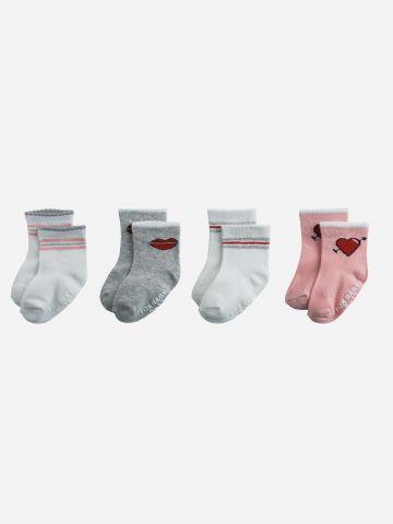 מארז 4 זוגות גרביים בהדפסים שונים / 0M-3Y של FOX
