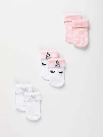 מארז 3 זוגות גרביים / בנות של FOX