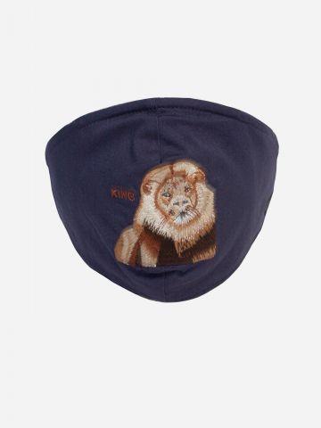 מסכת פנים עם רקמת אריה של GOORIN BROS