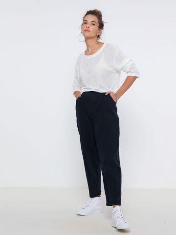 חולצת קרופ שקפקפה של TERMINAL X