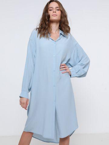 שמלת מידי מכופתרת שקפקפה של TERMINAL X