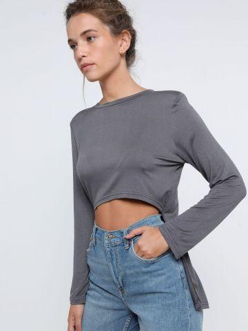 חולצה אסימטרית עם כריות כתפיים של TERMINAL X