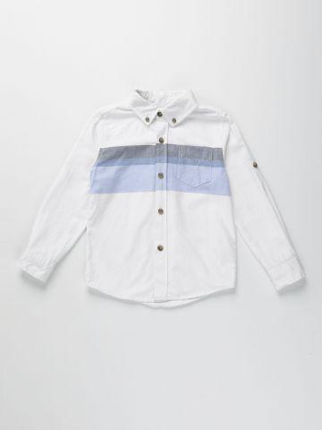 חולצת קולור בלוק מכופתרת / בנים של AMERICAN EAGLE