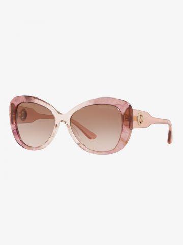 משקפי שמש פרפר עם מסגרת מרבל / נשים של MICHAEL KORS