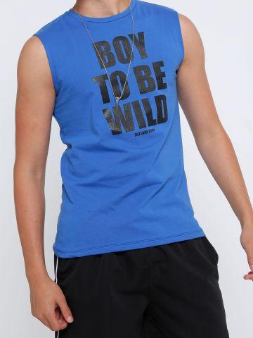 גופייה עם הדפס Boy To Be Wild של THE BOYS AND THE GIRLS
