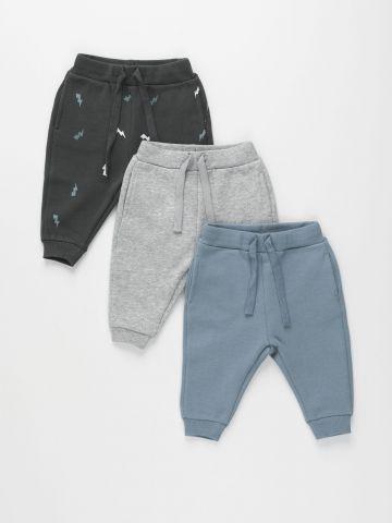 מארז 3 מכנסי פוטר ארוכים / 0-4Y של TERMINAL X KIDS