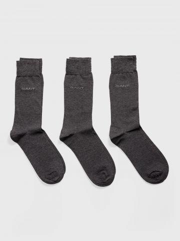 מארז 3 זוגות גרביים עם לוגו / גברים של GANT