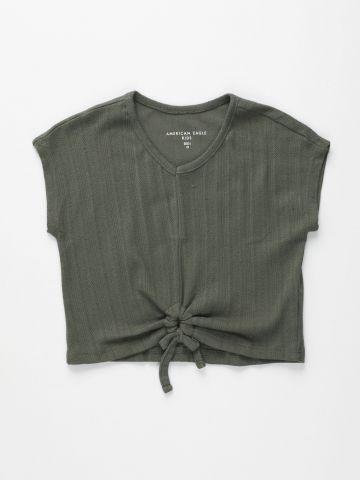 חולצת קרופ עם אלמנט קשירה / בנות של AMERICAN EAGLE