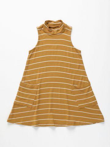 שמלת פסים עם צווארון גבוה / בנות של AMERICAN EAGLE