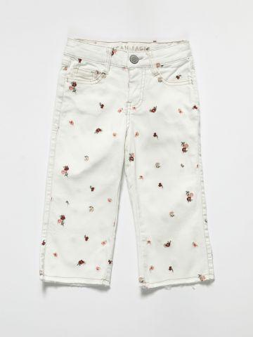 ג'ינס בעיטור רקמות פרחים / בנות של AMERICAN EAGLE