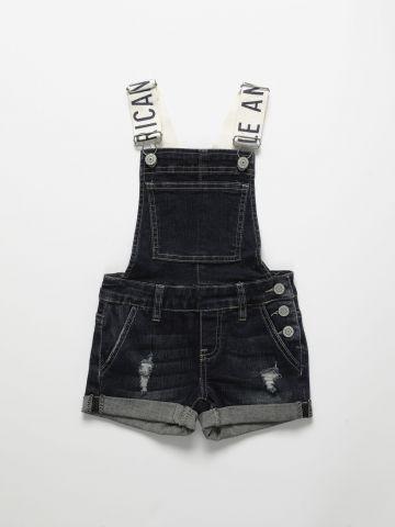 אוברול ג'ינס עם כתפיות לוגו / בנות של AMERICAN EAGLE