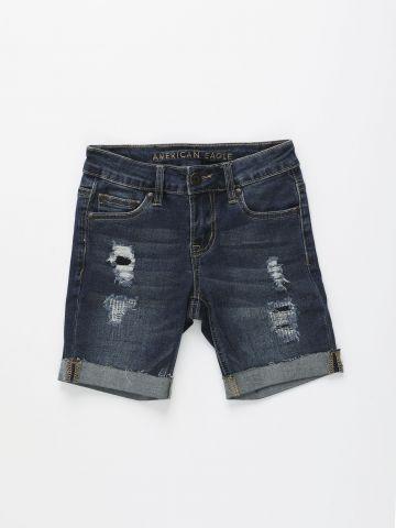 ג'ינס ברמודה עם קרעים / בנים של AMERICAN EAGLE