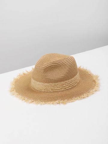 כובע קש עם פרנזים / נשים של YANGA