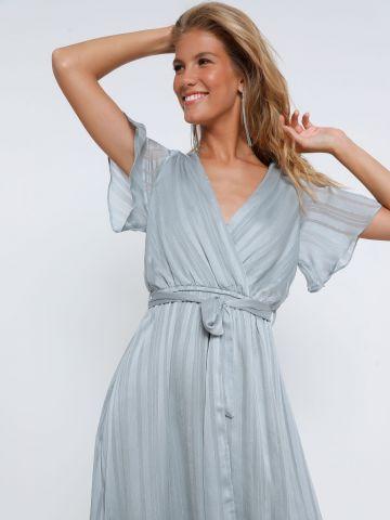 שמלת מידי מעטפת פסים של YANGA