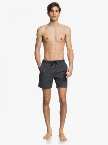 מכנסי ווש קצרים עם רקמת לוגו של QUIKSILVER