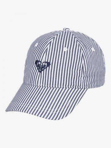 כובע מצחייה בהדפס פסים של ROXY